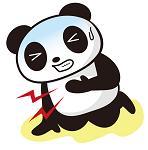 胸を痛めるパンダ